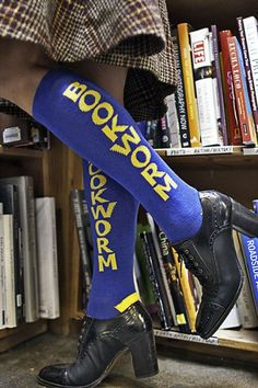 These bookworm socks would make adorable gifts for friends who love to read.
