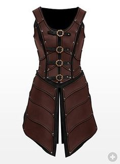 Lady Leather Armor brown - maskworld.com