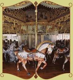 This carousel is located in Burlington, Colorado. It is beautifully restored and lovingly cared for by the poeple of Kit Carson County, Colorado. Open to the public from Memorial Day to Labor Day. A ride costs 25 cents.