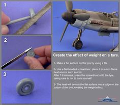 "taken from JM Villalba ""mini tutorial of the workshop"" Modeling Techniques, Modeling Tips, Tips And Tricks, Me262, Model Tanks, Model Hobbies, Military Modelling, Rc Model, Model Airplanes"