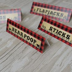 Your place to buy and sell all things handmade First Birthday Camping Theme, 1st Birthday Foods, Boys First Birthday Party Ideas, Lumberjack Birthday Party, First Birthday Decorations, First Birthday Banners, Baby Boy Birthday, 2nd Birthday, Party Food Labels
