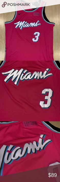 fb8fd72945d Dwyane Wade 18-19 Miami Heat Earned Edition Jersey Dwyane Wade 18-19 Miami  Heat Earned Edition Jersey! New with tags! Nike Shirts Tank Tops
