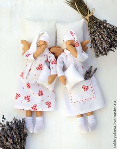 Купить Сонные ангелы. - кукла, кукла ручной работы, кукла в подарок, кукла интерьерная