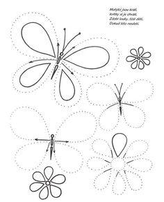 kelebekler çizgi çalışması