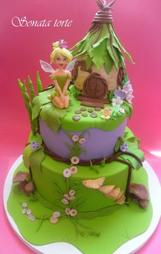 Party and event ideas and inspirations Fairy Birthday Cake, Birthday Cake Girls, Pirate Fairy Cake, Fantasy Cake, Fairy Cakes, Disney Cakes, Novelty Cakes, Occasion Cakes, Cake Creations