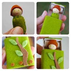 doll in a matchbox. Like this idea but will change the pattern and colors.