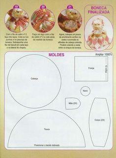Catia Artes Manuais: MOLDES DE BONECAS E BICHINHOS