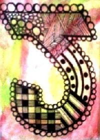 colored zentangle alphabet letters - Bing Images
