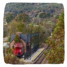 Train Station Cube Ottoman