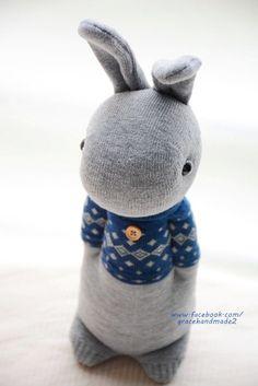 Grace--#321 Domy Rabbit (sock rabbit )