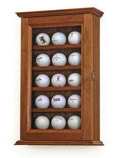 Golf Ball Display Case Cabinets Gorgeous Black Walnut Wood Sourced And Hand Crafted