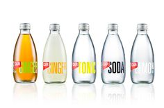 Packaging and branding created by CIP for premium carbonated fruit juice, mixer and mineral water brand CAPI.