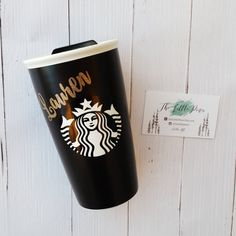 Personalized Starbucks Travel Cup-Ceramic Travel by TheLittlePines