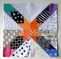 Paper pieced Star Pattern (free) #patchwork #quilting