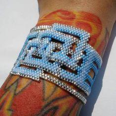 Beautiful Mess Peyote Stitch Cuff - JEWELRY AND TRINKETS#msg3698119