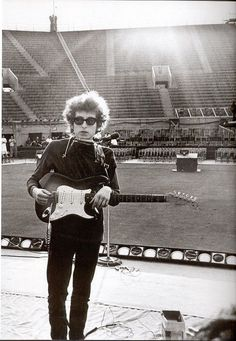 Bob Dylan at Forest Hills, New York City, 1965.