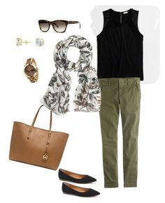"""Untitled #144"" by smag on Polyvore featuring Michael Kors, CZ by Kenneth Jay Lane, Banana Republic, J.Crew and Target"