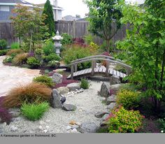 rock garden dry garden in zen asian style - Japanese Garden Design Garden Design Plans, Japanese Garden Design, Backyard Garden Design, Japanese Landscape, Small Garden Design, Backyard Landscaping, Natural Landscaping, Big Backyard, Modern Backyard