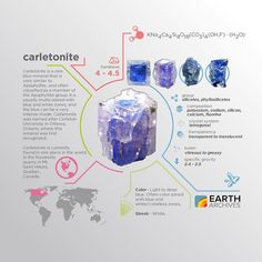 Carletonite was named after Carleton University in Canada the only country in the world where it can be found. #science #nature #geology #minerals #rocks #infographic #earth #canada #carletonite