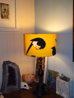 Next day I swiftly made the two kits for magpie lamps for the living room!