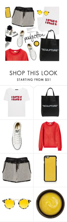 """Perfect day!"" by magdafunk ❤ liked on Polyvore featuring AlexaChung, Off-White, Converse, H&M, Closed, Vianel, Krewe, de Mamiel, StreetStyle and short"