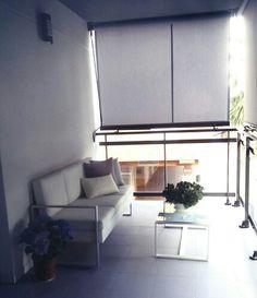 Balcón, terraza con toldos. Set de aluminio y textileno Cerdeña. Leroy Merlin
