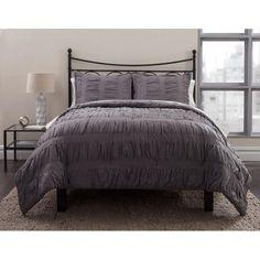 Formula Solid Ruched Bed in a Bag Comforter Set - Walmart.com