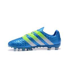 premium selection 8aaf9 dad75 Adidas ACE - Barato Adidas ACE 16.1 FG AG Azul Verde Botas De Futbol