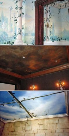 Carolynne Darling is a professional scenic artist who designs and paints wall murals. She also does hand painted scenes on ceilings, walls, and furniture pieces.