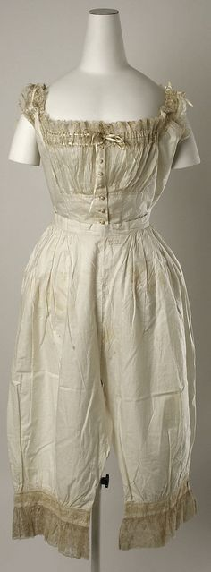 Wedding Lingerie, 1880, American, silk and cotton