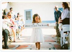 here comes the bride sign long