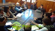 Los concejales se reunieron con funcionarios provinciales por la obra en la cascada