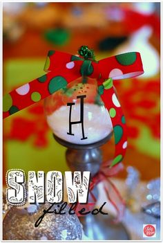 Monogrammed Ornament from @Cheryl Tidymom