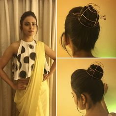 "76.1k Likes, 400 Comments - Rakul Singh (@rakulpreet) on Instagram: ""When u love fashion #sareetwists . In @bennch.hq n @misho_designs hair accessory 4 an award…"""