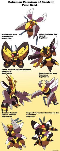 phatmonsters:    Pokemon Subspecies Beedrill-Phatmonhttp://phatmon66.deviantart.com/art/Pokemon-Subspecies-Beedrill-533378074