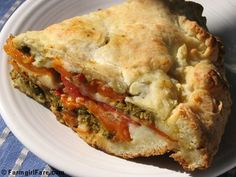 Savory tomato, mozzarella, and basil pesto pie with an easy cheesy biscuit crust by Farmgirl Susan, via Flickr