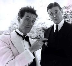 Fry and Laurie. Love Bertie & Jeeves - Big Wodehouse fan!