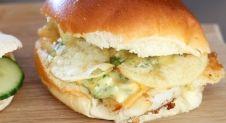 Visburger met kaas en tartaarsaus