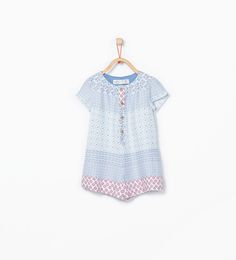 ZARA - KIDS - Jumpsuit with concealed button closure