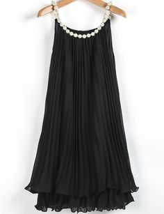 To find out about the Black Bead Pleated Chiffon A Line Dress at SHEIN, part of our latest Dresses ready to shop online today! Chiffon Dress, Dress Skirt, Look Fashion, Fashion Outfits, Vintage Style Dresses, Latest Dress, Pakistani Dresses, Beautiful Dresses, Clothes For Women