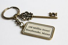 Storybrooke Key Ring Once Upon a Time inspired by CissyPixie, $14.00