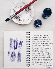Purple crystals Art journal entry // tumblr creative craft for teens ideas inspiration