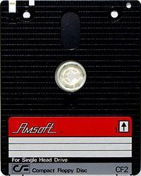 """Disco de 3"""" utilizado en el Amstrad CPC 6128"""