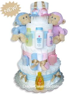 ga diaper cakes   Diaper cakes for baby girls - practical & memorable new baby gift