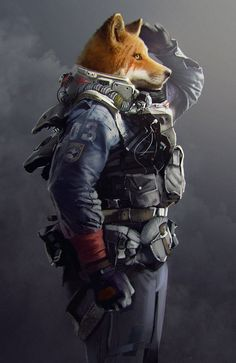 Space fox, Thomas Lépine on ArtStation at https://www.artstation.com/artwork/wr5lX