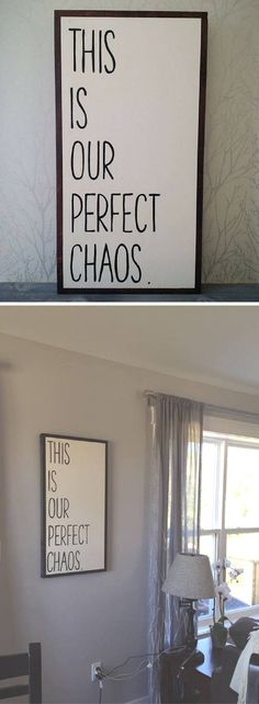 Home Design Ideas: Home Decorating Ideas Rustic Home Decorating Ideas Rustic This sign is perfect for my loud, chaotic, wild, loud house. With 3 kiddos, the ... #homedecorapartment