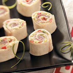 Pretty Ham Pinwheels - Taste of Home