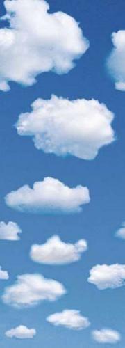 2 skyer :) - tarpet til loft   228,- pr stk.
