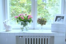Helmen talo: Tulis jo kevät... #bunnyinthewindow