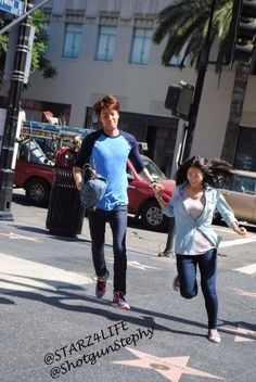 "Lee Min Ho and Park Shin Hye ♡ #Kdrama - ""Heirs"" / ""The Inheritors"" , shooting in Los Angeles"